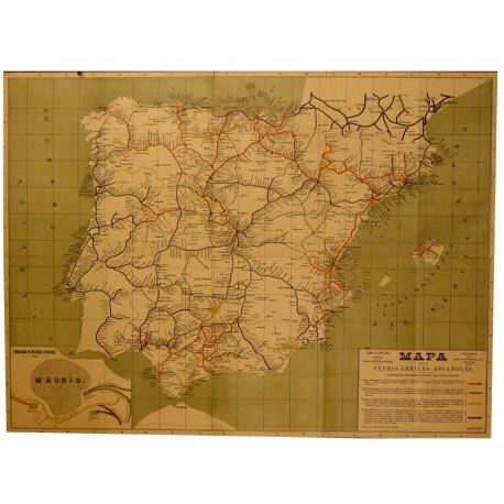 MAPA FERROCARRILES ESPAÑOLES