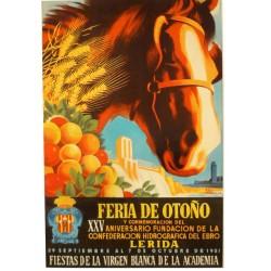 FERIA DE OTOÑO LERIDA 1951. XXV ANIVERSARIO FUNDACION CONF. HIDROGR. EBRO