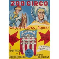 ZOO CIRCO. CABO ROSTY. RIN-TIN-TIN- CABALLO PONY