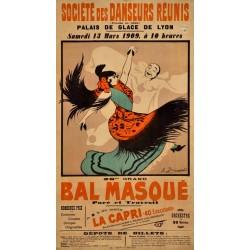 BAL MASQUE. LYON 1909 Ste. DANSEURS REUNIS