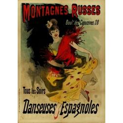 MONTAGNES RUSSES. DANSEUSES ESPAGNOLES