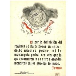 LA FRASE QUINCENAL 'NI POR LA DEFINICION DEL REGIMEN...' FRANCO