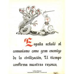 LA FRASE QUINCENAL 'ESPAÑA SEÑALO AL COMUNISMO COMO GRAN ENEMIGO...'