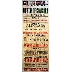 EXPOSICION UNIVERSAL DE BARCELONA 1888