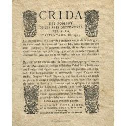 CRIDA DEL FOMENT DE LES ARTS DECORATIVES