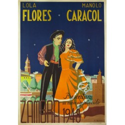 LOLA FLORES - MANOLO CARACOL. ZAMBRA 1948