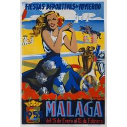 MALAGA FIESTAS DEPORTIVAS DE INVIERNO 1955