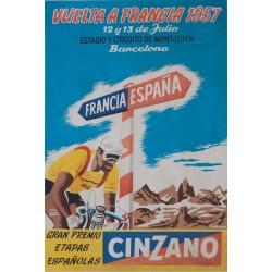 (TOUR DE FRANCE) VUELTA A FRANCIA 1957. MONTJUICH