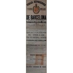 FERIAS- EXPOSICIONES DE BARCELONA MERCED 1871.