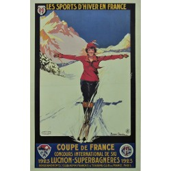 LES SPORTS D'HIVER. COUPE DE FRANCE 1923 LUCHON-SUPERBAGNERES