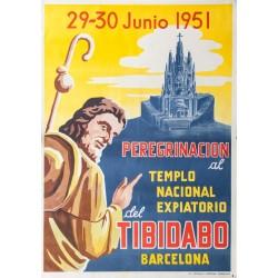 1951 PEREGRINACON AL TIBIDABO.BARCELONA