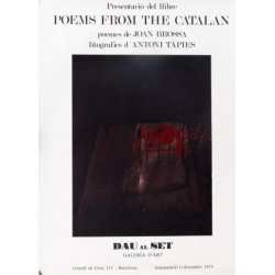 POEMS FROM THE CATALAN. TAPIES / BROSSA