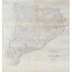 PLANO DE CATALUÑA. PUBLICADO POR R.M. 1894