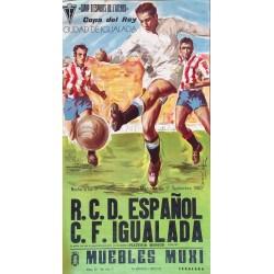 R.C.D. ESPAÑOL -C.F. IGUALADA. CAMP D'ESPORTS DE L'ATENEU. 1980