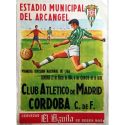 CLUB ATLETICO DE MADRID-CORDOBA C.de F. ESTADIO MUNICIPAL DEL ARCANGEL