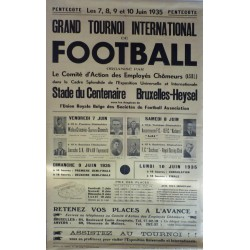 GRAND TOURNOI INTERNATIONAL DE FOOTBALL 1935. BRUXELLES