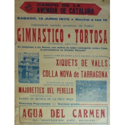 CAMPO DE LA AVENIDA DE CATALUÑA. GIMNASTICO-TORTOSA. 1970 TARRAGONA