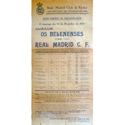 REAL MADRID CLUB DE FUTBOL GRAN PARTDIDO DE INAUGURACION 1947