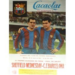SHEFFIELD WEDNSDAY -C. F. BARCELONA 1963