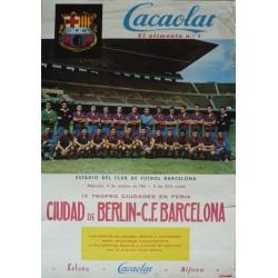 CIUDAD DE BERLIN - C.F. BARCELONA 1961