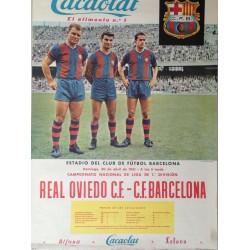REAL OVIEDO C. F. - BARCELONA F.C. 1961