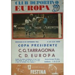 CLUB DEPORTIVO EUROPA. C.G. TARRAGONA - C.D. EUROPA. 1966