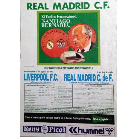 REAL MADRID C.F. XI TROFEO SANTIAGO BERNABEU. 1989