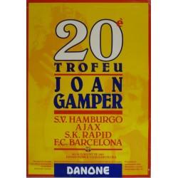 20 TROFEU JOAN GAMPER 1985. ANDERLECHT/NOTHINGHAN/BORUSSIA/BARCELONA