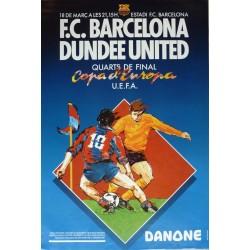 COPA D'EUROPA UEFA. F.C. BARCELONA - DUNDEE UNITED