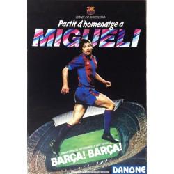 PARTIT D'HOMENATGE A MIGUELI. BARÇA! BARÇA!