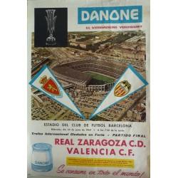 FINAL COPA DE FERIAS 1964 REAL ZARAGOZA C. D. - VALENCIA C. F.