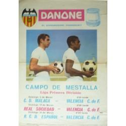 CAMPEONATO NACIONAL DE LIGA 1968 CAMPO DE MESTALLA. VALENCIA C. DE F.