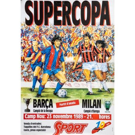 SUPERCOPA BARÇA - MILAN. CAMP NOU 23 NOVEMBRE 1989