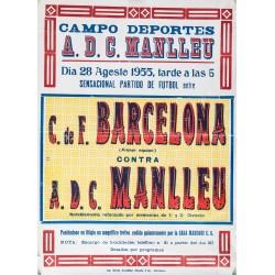 CAMPO DEPORTES A.D.C. MANLLEU. BARCELONA - MANLLEU 1955