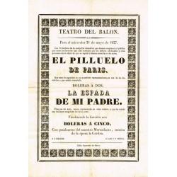 TEATRO DEL BALON. CADIZ. 1837. EL PILLUELO DE PARIS