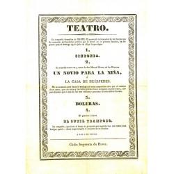 TEATRO (DEL BALON). CADIZ. 1837.UN NOVIO PARA LA NIÑA. BRETON DE LOS HERREROS