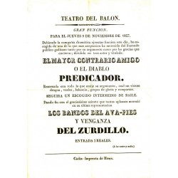 TEATRO DEL BALON. CADIZ. 1837. EL DIABLO PREDICADOR