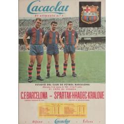 C.F. BARCELONA - SPARTAK-HRADEC-KRALOVE. 1961
