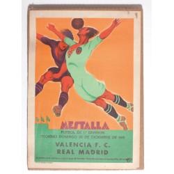 MESTALLA. VALENCIA F.C. - REAL MADRID. 1931