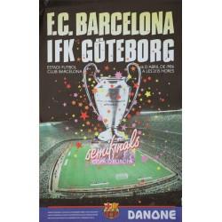 F.C BARCELONA -IFK GÖTEBORG. SEMIFINAL COPA D'EUROPA. 1986