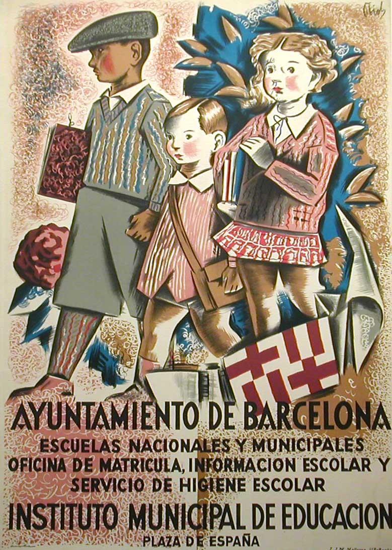 Instituto Municipal De Educación Original Poster Barcelona