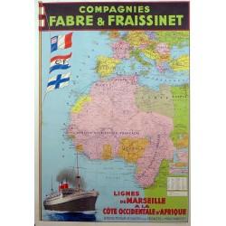 FABRE & FRAISSINET (Canada) COTE OCCIDENTALE D'AFRIQUE...A