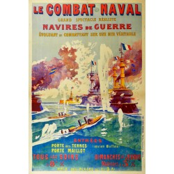 COMBAT NAVAL. NAVIRES DE GUERRE