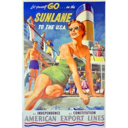 SUNLANE TO THE U.S.A. AMERIVAN EXPORT LINES...
