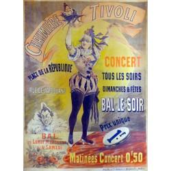 CHAUMIERE TIVOLI CONCERT BAL LE SOIR...