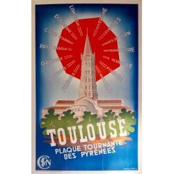 TOULOUSE PLAQUE TOURNANTE DES PYRENEES...
