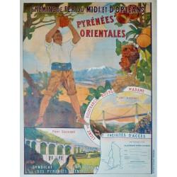 PYRENEES ORIENTALES. LIGNE DE VILLEFRANCHE-BOURG MADAME...