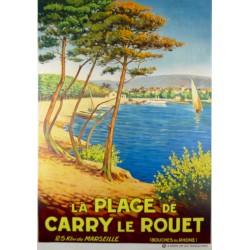 LA PLAGE DE CARRY LE ROUET. 25 KM. DE MARSEILLE...