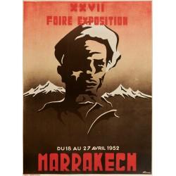 MARRAKECH XXVII FOIRE EPOSITION 1952...