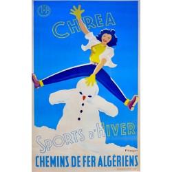 SPORTS d'HIVER CHREA CHEMINS DE FER ALGERIENS...